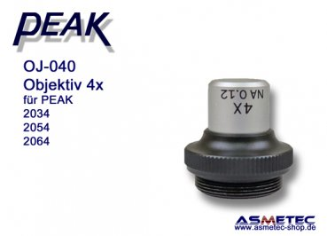 PEAK-Optics OJ-040, Objektiv 4fach für PEAK 2034/2054/2064