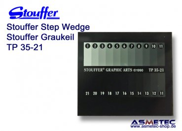 Stouffer Graukeil TP35-21, 21 Stufen, Inkrement 0,15