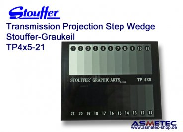Stouffer Graukeil TP4x5-21, 21 Stufen, Inkrement 0,15