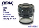 PEAK-Optics Messlupe 1983, 10fach, Skala 0,1 mm